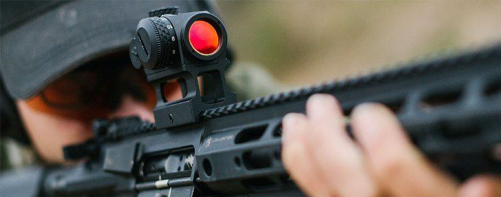 A-rifle-with-a-red-dot-sight